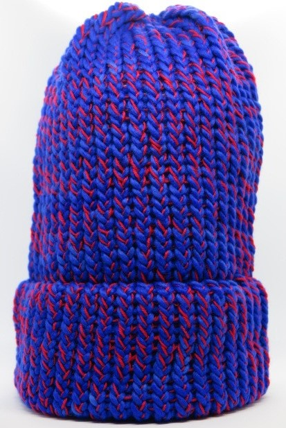 blue red slouch hat