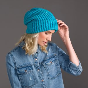turquoise blue slouch
